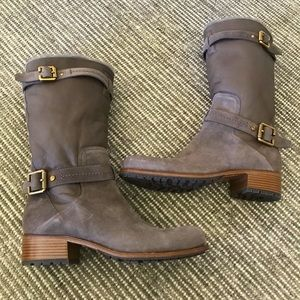 Christian Dior Nubuck/Leather Mid-Calf boots 41